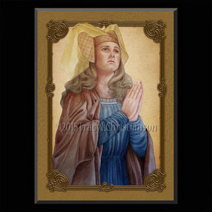St. Emma of Gurk Plaque & Holy Card Gift Set