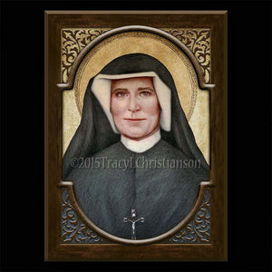 St. Faustina Plaque & Holy Card Gift Set