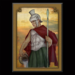 St. Florian Plaque & Holy Card Gift Set