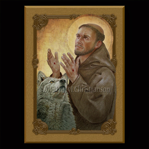 St. Francis of Assisi (B) Plaque & Holy Card Gift Set