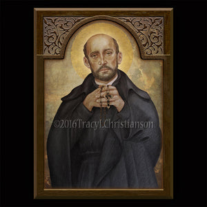 St. Francis Borgia Plaque & Holy Card Gift Set