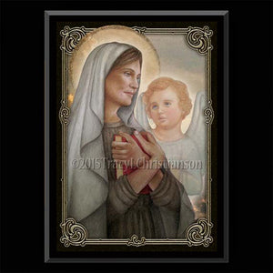 St. Frances of Rome Plaque & Holy Card Gift Set