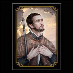 St. Francis Xavier Plaque & Holy Card Gift Set