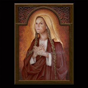St. Genevieve Plaque & Holy Card Gift Set