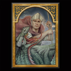 St. George Plaque & Holy Card Gift Set