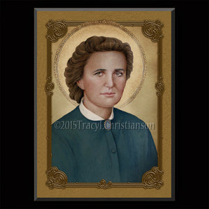 St. Gianna Molla (B) Plaque & Holy Card Gift Set
