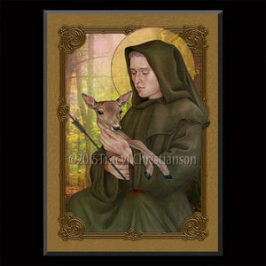 St. Giles Plaque & Holy Card Gift Set