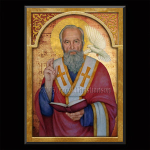 St. Gregory the Great Plaque & Holy Card Gift Set