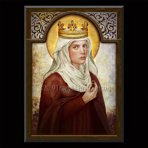 St. Hedwig of Poland Plaque & Holy Card Gift Set