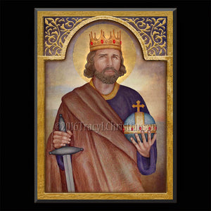 St. Henry II, Holy Roman Emperor Plaque & Holy Card Gift Set