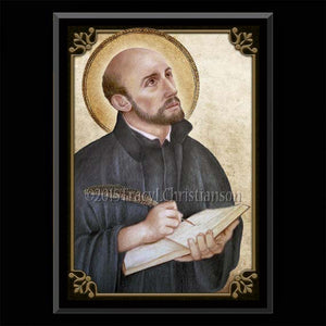 St. Ignatius of Loyola Plaque & Holy Card Gift Set