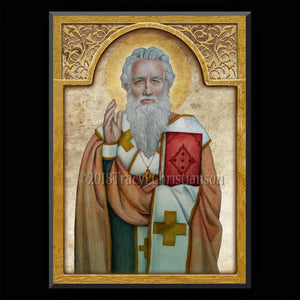 St. Ignatius of Antioch Plaque & Holy Card Gift Set