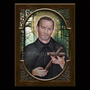 St. Isaac Jogues Plaque & Holy Card Gift Set