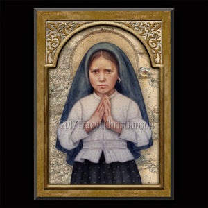 St. Jacinta Marto Plaque & Holy Card Gift Set