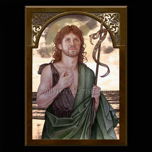 St. John the Baptist Plaque & Holy Card Gift Set