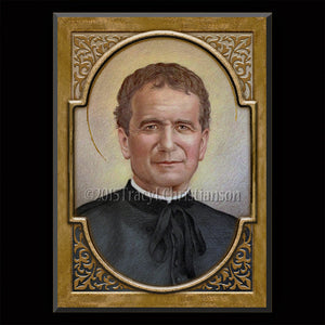 St. John Bosco Plaque & Holy Card Gift Set