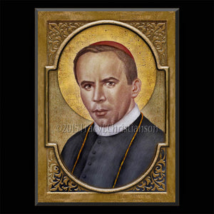 St. John Neumann Plaque & Holy Card Gift Set