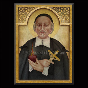 St. John Eudes Plaque & Holy Card Gift Set