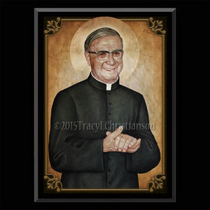 St. Josemaría Escrivá Plaque & Holy Card Gift Set