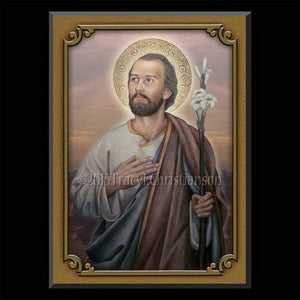 St. Joseph, Husband of Mary Plaque & Holy Card Gift Set