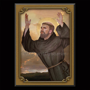 St. Joseph of Cupertino Plaque & Holy Card Gift Set
