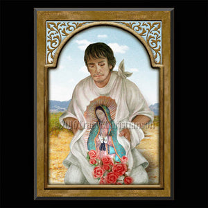 St. Juan Diego Plaque & Holy Card Gift Set