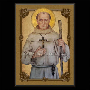 St. Junipero Serra Plaque & Holy Card Gift Set