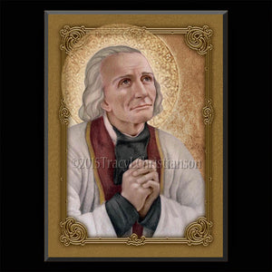 St. John Vianney Plaque & Holy Card Gift Set