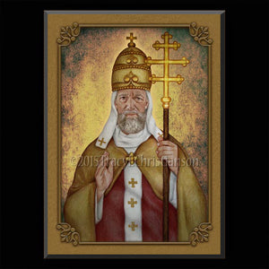 St. Leo the Great Plaque & Holy Card Gift Set