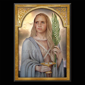 St. Lucy Plaque & Holy Card Gift Set
