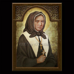 St. Marguerite Bourgeoys Plaque & Holy Card Gift Set