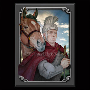 St. Martin of Tours Plaque & Holy Card Gift Set
