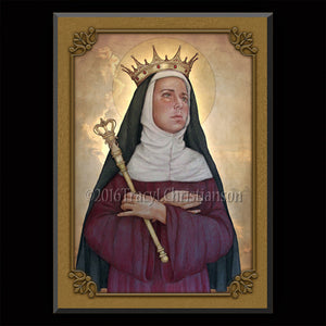 St. Matilda Plaque & Holy Card Gift Set