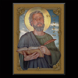 St. Matthew the Apostle Plaque & Holy Card Gift Set
