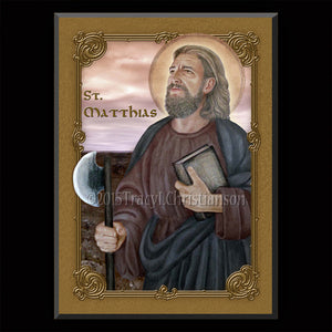 St. Matthias Plaque & Holy Card Gift Set