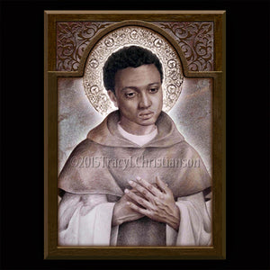 St. Martin de Porres Plaque & Holy Card Gift Set