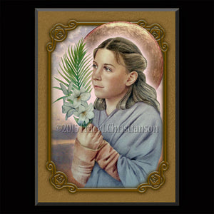St. Maria Goretti Plaque & Holy Card Gift Set