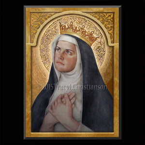 St. Margaret of Hungary Plaque & Holy Card Gift Set