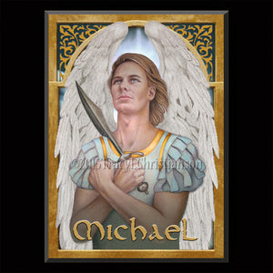 St. Michael the Archangel Plaque & Holy Card Gift Set