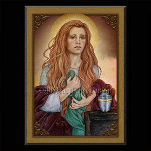 St. Mary Magdalene (B) Plaque & Holy Card Gift Set