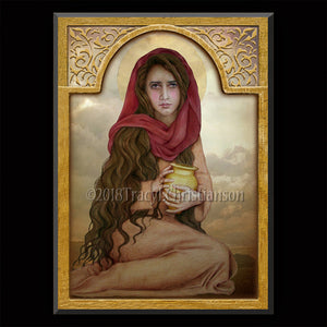 St. Mary Magdalene (C) Plaque & Holy Card Gift Set