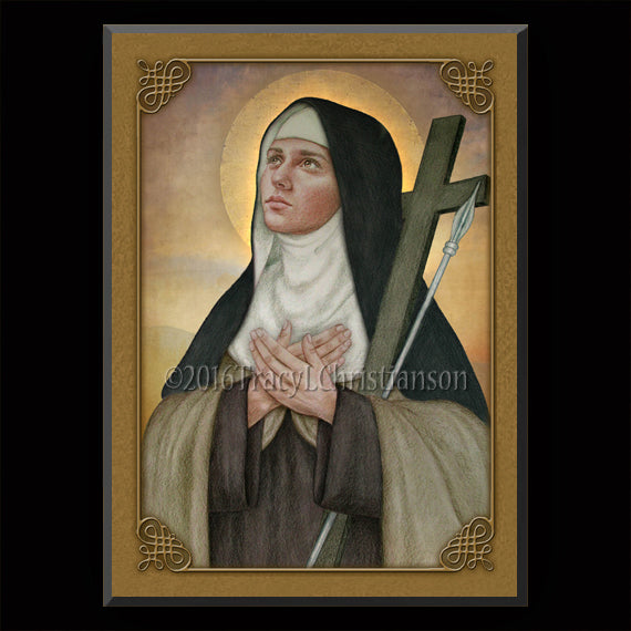 St. Mary Magdalen de Pazzi Plaque & Holy Card Gift Set