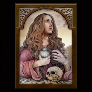 St. Mary Magdalene (A) Plaque & Holy Card Gift Set