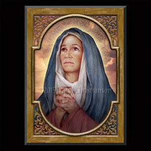 St. Monica Plaque & Holy Card Gift Set