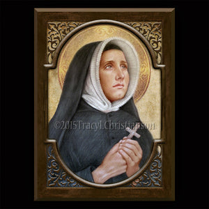 St. Madeleine Sophie Barat Plaque & Holy Card Gift Set