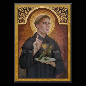 St. Nicholas of Tolentino Plaque & Holy Card Gift Set