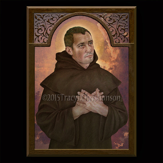 St. Paschal Baylon Plaque & Holy Card Gift Set