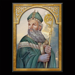 St. Patrick (B) Plaque & Holy Card Gift Set