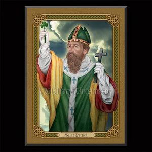 St. Patrick (C) Plaque & Holy Card Gift Set