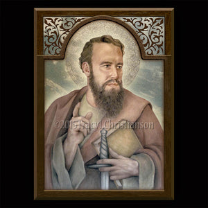 St. Paul the Apostle Plaque & Holy Card Gift Set
